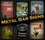 Metal Bar Signs