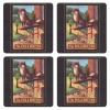 Fox and Hounds Vintage Pub Sign Coasters - Set of 4