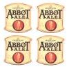 Abbot Ale Cream Coasters from Pub World – Set of 4