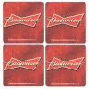 Budweiser Coasters from Pub World – Set of 4