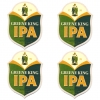 Greene King IPA Coasters from Pub World – Set of 4