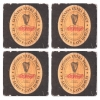 Guinness Label Coasters from Pub World – Set of 4