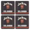 Jim Beam Coasters from Pub World – Set of 4