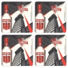 Smirnoff Vodka Coasters from Pub World – Set of 4
