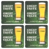 Tuborg Lager Coasters from Pub World – Set of 4