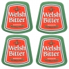 Welsh Bitter Coasters from Pub World – Set of 4