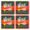 Wine By The Glass Coasters from Pub World – Set of 4